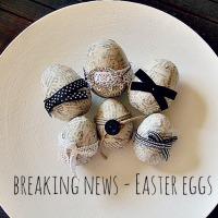 Ντεκουπαζ με εφημερίδες στα πασχαλινά αυγά