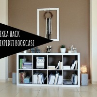 Ikea hack-Expedit βιβλιοθήκη με μπογιά κιμωλίας