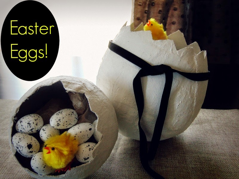easte-eggs-with-plaster