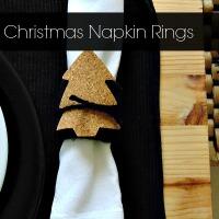Χριστουγεννιάτικα δαχτυλίδια πετσέτας